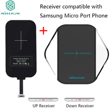 Micro Port Phone For Xiaomi Samsung Huawei Charging receiver& Nillkin Magic Cube Qi Wireless Charger Pad