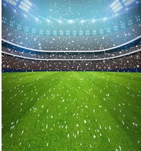 Football Stadium Lights Fireworks backdrop Vinyl cloth Computer printed party Backgrounds
