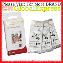 30 Sheets Pcs Pocket Photo Paper Zink PS2203 FOR LG + Free Gift Smart Mobile Printer Paper For LG PD221 PD233 PD239(China)