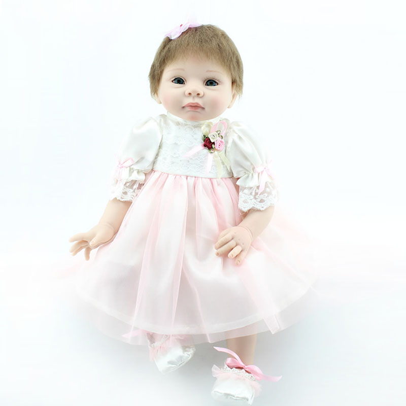 UCanaan New 50-55cm Handmade Silicone Reborn Baby Doll Soft Touch Body Little Princess Doll Reborn Best Gift Free Shipping Toys<br><br>Aliexpress