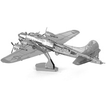 WW2 B-17 Flying Fortress Airplane Fun 3D Metal DIY Miniature Model Kits Puzzle Toys Children Educational Boy Splicing Science(China)