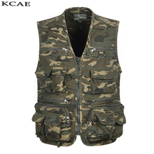 New Camouflage Vest Men Photography Cameraman Mesh Male Vest Director Reporter Vest With Many Pockets Men Sleeveless Jacket