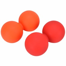 Silicone Peanut Yoga Massage Ball Rollers Back Trigger Point Therapy Braces Supports Sports Gym Release Excise Mobility Tool(China)
