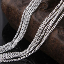 wholesale women fashion necklace hot Grinding chain pendant 16 18 20 22 24 26 28 30 inch 10pcs a lot cheap silver plated chains