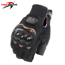 PRO-BIKER Motorcycle Gloves Motorbike Racing Half Finger Summer Moto Gloves Motorbike Riding Racing Bike Protective Gloves M-XXL(China)