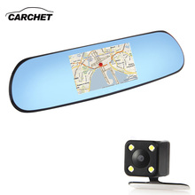 "CARCHET Car DVR WiFi GPS Navigation 5"" 1080P HD 512M RAM 8G Quad-Core FM WiFi GPS Navigation Car DVR Rear View Mirror Antenna"