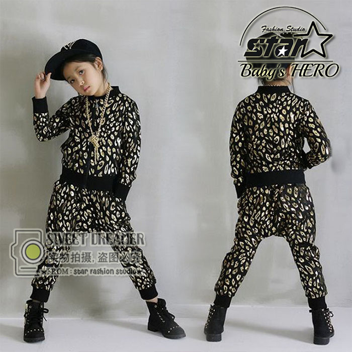 Baby Kids Tracksuit Fashion Leopard Grain Best Quality Hoodies + Pants Casual Boys Girls Sport Set Children Suit<br><br>Aliexpress