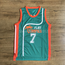 #7 Coffee Black Youth Flint Tropics Semi Pro Costume Movie Basketball Jersey S-XL for Kids Children(China)