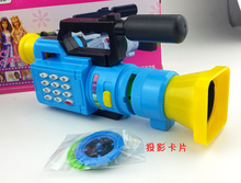 Children's electric music video camera projection simulation Early infant toys