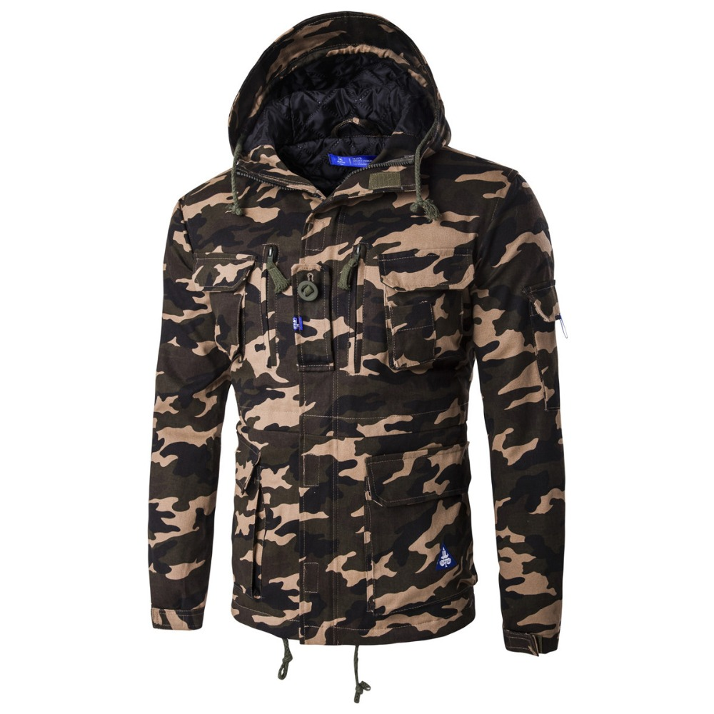 Camouflage Parkas Men Jacket military medium-long winter coat men thickening cotton-padded winter jacket men with hood ClothingОдежда и ак�е��уары<br><br><br>Aliexpress