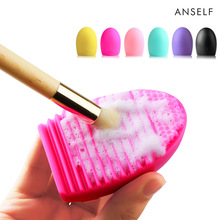 Concave-convex Cleaning Cosmetic Makeup Brush Foundation Washing Brush Cleaner Silicone Finger Glove Make Up Brush Scrubber Tool
