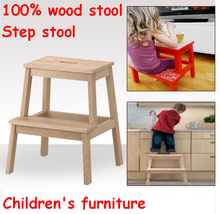 New Wholesale !Children's Day gifts, Children step stool,child chairs 100% wooden stool,step stool,children furniture(China)