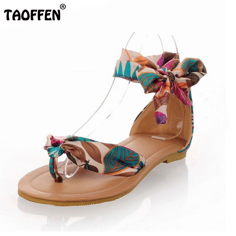 Big size 34-43 T strap colorful Beach flat heel sandals shoes women Summer Sandals Ribbon Sweet Ladies Leisure shoes PA00246<br><br>Aliexpress