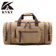 KVKY 2017 New Brand Men's Crossbody Shoulder Bag Canvas Messenger Bags Man Handbag Big Tote Bag Casual Travel Bag Sac Hommes
