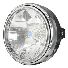 12V 35W 3000K Amber Light Round 7 Inch Motorcycle Headlight For Honda /Yamaha /Suzuki /Kawasaki Black