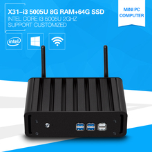 New Duad Core Mini PC i3 5005U Windows 10 2.0GHz 8G Ram 64G SSD Compute Stick HDMI TV Box Support 300M WiFi Micro Server(China)