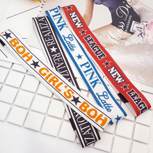 SP&CITY Harajuku Style Fashion Sports Letter PINK Headbands Cool Girl Headwear Popular Hairband Women Hair Accessories(China)