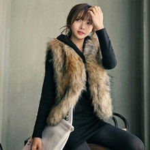 Free Shopping Jacket Fur Women Vest Sleeveless Coat Outerwear Long Hair Jacket Waistcoat thick warm top Colete De Pele Falso#21(China)