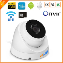 BESDER ONVIF IP Camera Wifi 1080P 960P 720P Optional ONVIF P2P Email Alert Yoosee Wireless Dome Camera With SD Card Slot Max 64G