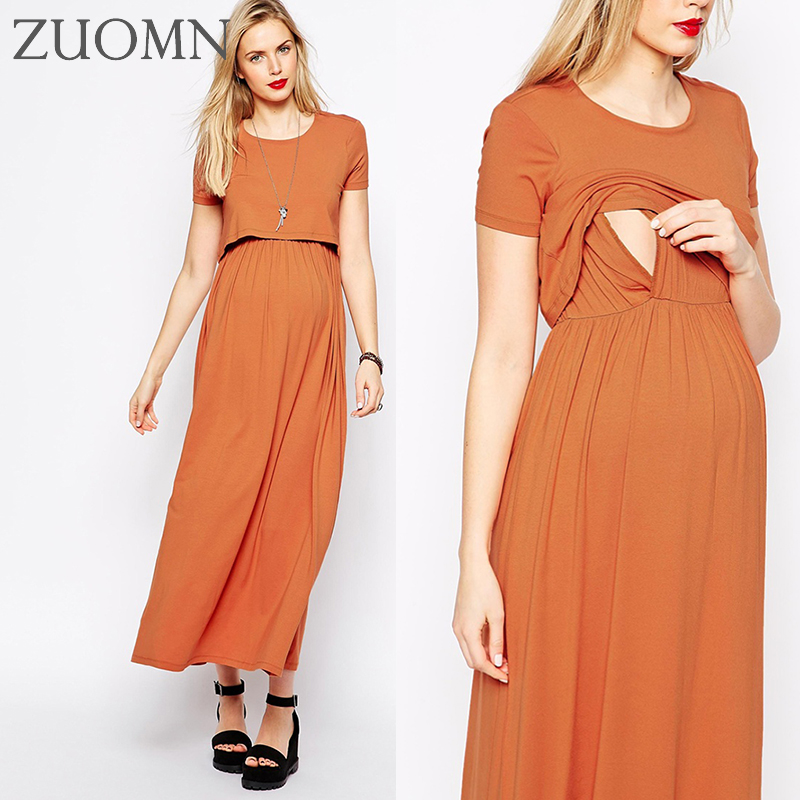 Maternity Upscale Breastfeeding Dresses Maternity Dresses Pregnancy Evening Gowns Clothes Pregnant Women Nursing Dress YL554  <br><br>Aliexpress
