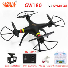 FPV Quadrocopter Global Drone GW180 RC Drone with 4K WIFI 8MP Camera 6-Axis Gyro Professional Dron vs syma x8 x8w rc helicopter