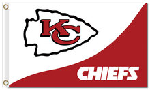 Top design Kansas City Cheifs flag 90x150cm outdoor polyester banner with 2 Metal Grommets Wholesale(China)