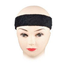 BOFF 2 PCS Exercise Elastic Terry Cloth Headband Sweatband Black(China)