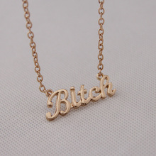 Fashion accessories bitch alphabet letter necklace