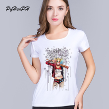 PyHen New 2016  Suicide Squad T Shirt Women Short Sleeve Harley Quinn T-Shirt Summer Style Funny HAHA  Print women tops