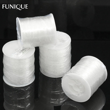 FUNIQUE 1Roll(about 100M) 0.8mm Nylon Elastic Thread Jewelry Findings White Cord For Jewelry Making Crafts DIY Bracelet Necklace(China)