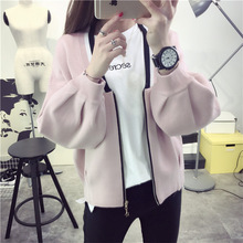 autumn college style student girl fashion zipper cardigans sweaters women casual loose  cardigans sweaters