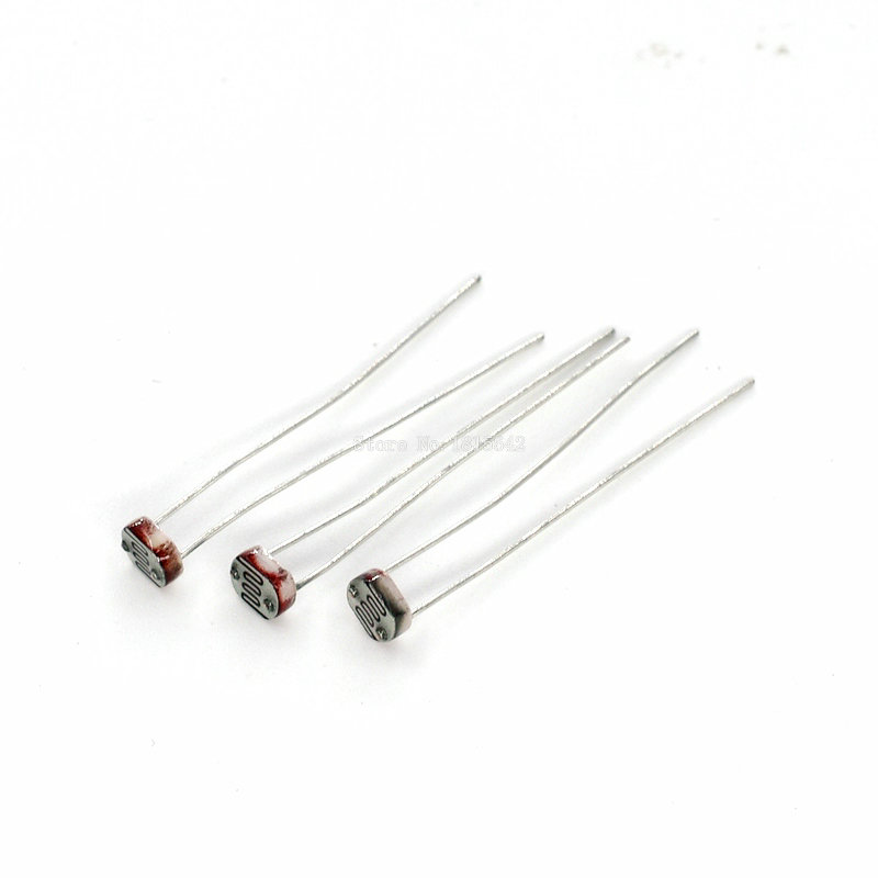 50PCS LDR Photo Light Sensitive Resistor Photoelectric Photoresistor Photosensitive Resistance 5528 GL5528 5537 5506 5516 5539