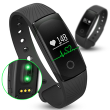 ID107 Bracelet Heart Rate Monitor Smart Band Pedometer Wristband Smartband Fitness Activity Tracker With Alarm Clock For Phone