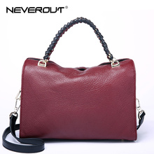 NeverOut Real Leather Handbags Women's Brand Name Bag Lady Shoulder Sac Fashion Crossbody Bags Sac Handbag Totes Evening Bag(China)