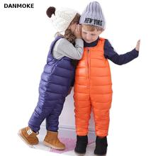 Danmoke Baby Winter Romper Down Overalls 1-5Y Newborn Baby Girl Warm Jumpsuit Autumn Fashion Baby's Wear Kid Climb Clothes(China)