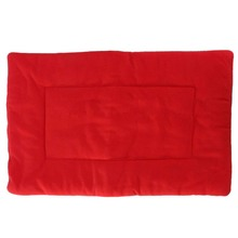 Carpet Cushion Bed Bedding Fabric Velvet Dog Cat Pet Kennel Dog Bed red XS