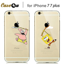 Capa para for iphone 7 8 Pokemons Pikachus Case For fundas iphone 7 8 Plus soft silicone Cover Cartoon Pattern spongebob minion(China)