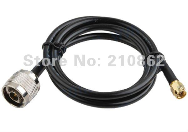 N male to  RP-SMA male  connector Wireless Antenna cable KSR 195 RG58 1M free custom<br><br>Aliexpress