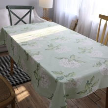 abbiemao pastoral and floral style restaurant tablecloth dining room table cover dustproof rectangular decorative cloth(China)
