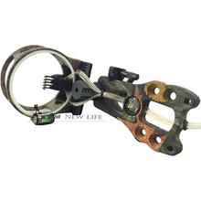 "Archery Compound Bow Sight  5-Pin Sight Hunting Archery 0.019"" Fiber Optic with Light Camouflage"