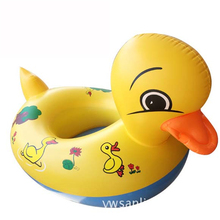 Duck Design Cute Kids Inflatable Swim Ring Seat Float Boat Water Sports Buoy Child Mount Toy Armpit Circle Outdoor Beach Pool