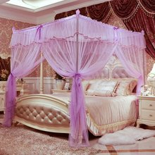 2017 Top Fashion Real Adults Best Selling Elegant Princess Canopy Bed Curtains Mosquito Net Bedding Dossel Palace Netting For(China)