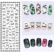 1 Sheet Fashion Nails Art Stikers Water Transfer Decals For Nails Tips Beauty DS-108(China)