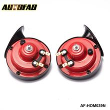 AUTOFAB - 1 Pair 12v 110dB 510Hz Auto Truck Dual Snail Horn High low Car Motor Vehicle For Honda integra parts AF-HOM039N