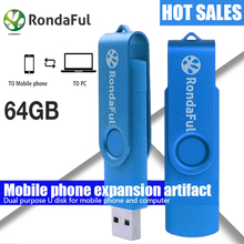 Smart Phone USB flashdrive 64gb Pen Drive 32gb Pendrive 8gb OTG External Storage usb Memory Stick USB Flash Drive Freeshipping