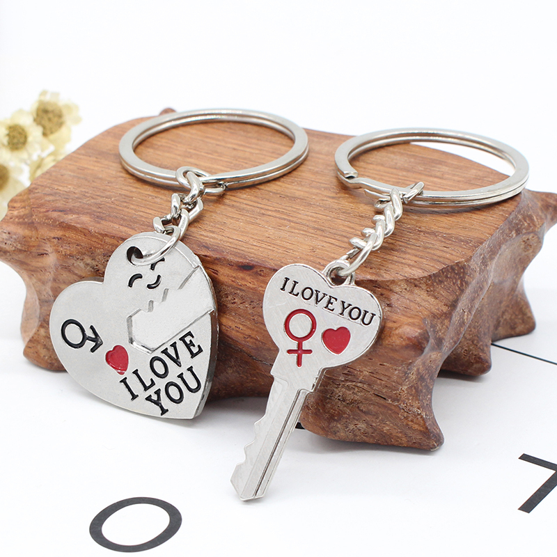 Hot-Silver-Couple-Keychain-Enamel-Love-Heart-Key-Chain-Carved-I-Love-You-Keyring-BFF-Keychains