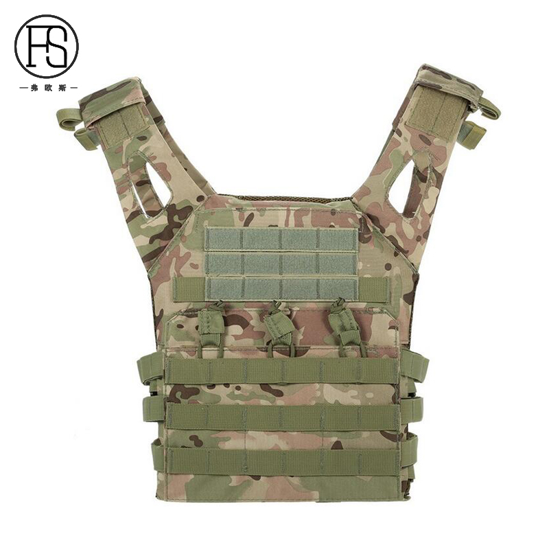 Tactical Vest Simplified Version Military Protective Plate Carrier Plate Carrier Vest Ammo Magazine Body Armor 1000D 4 Color<br>