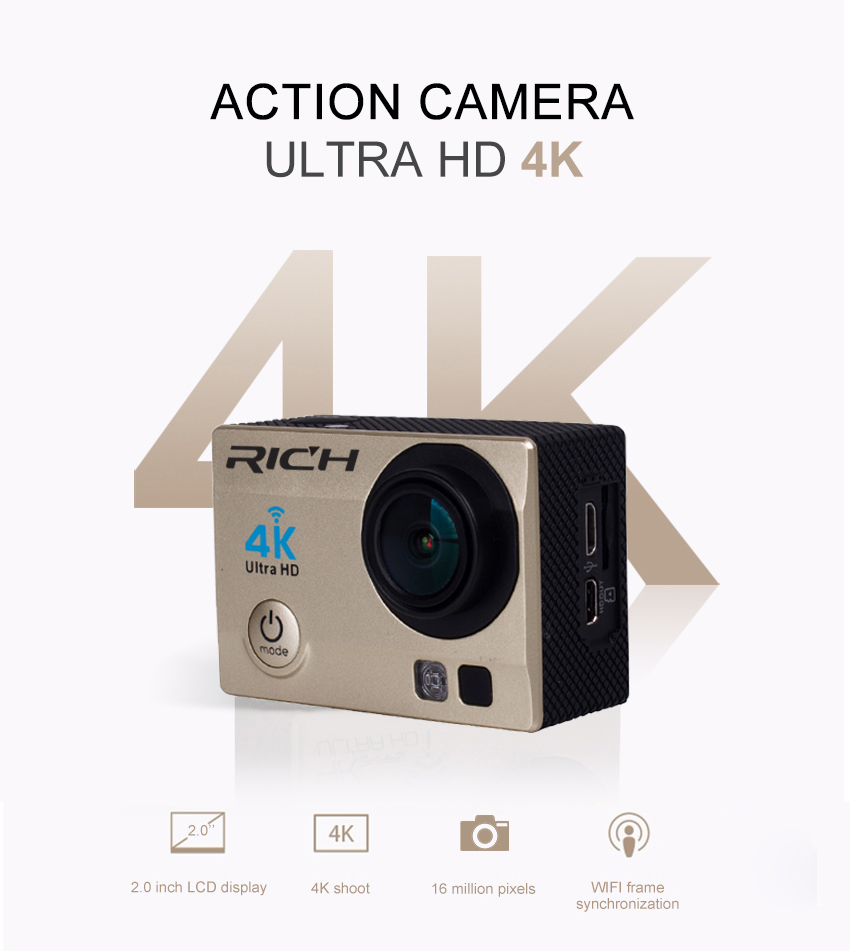 4K action camera wifi