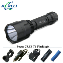 xm-l2 tactical flashlight led Torch rechargeable waterproof  hunting light cree xml t6 rechargeable batteries 18650