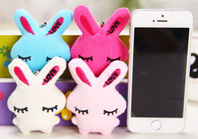 Mini 5CM Rabbit Stuffed Mini Toy , 4 Colors FOR Choice - String Pendant Plush Toy Doll For Wedding Decor Bouquet(China)